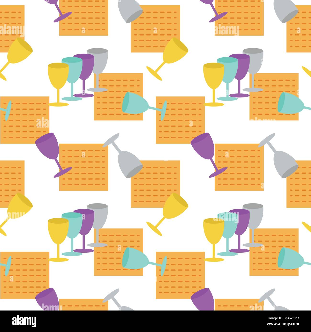Passover seamless pattern background - Stock Image