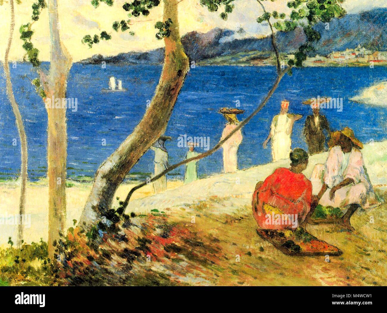 Image Bord De Mer paul gauguin, bord de mer ii, 1887 stock photo: 175121213