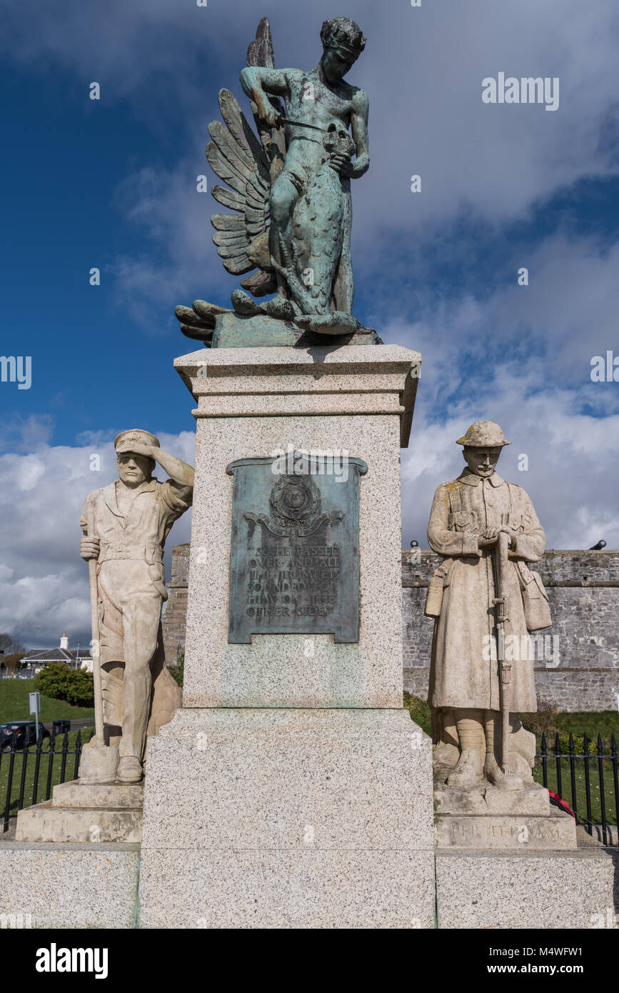 Royal Marines Memorial on Plymouth Hoe Stock Photo