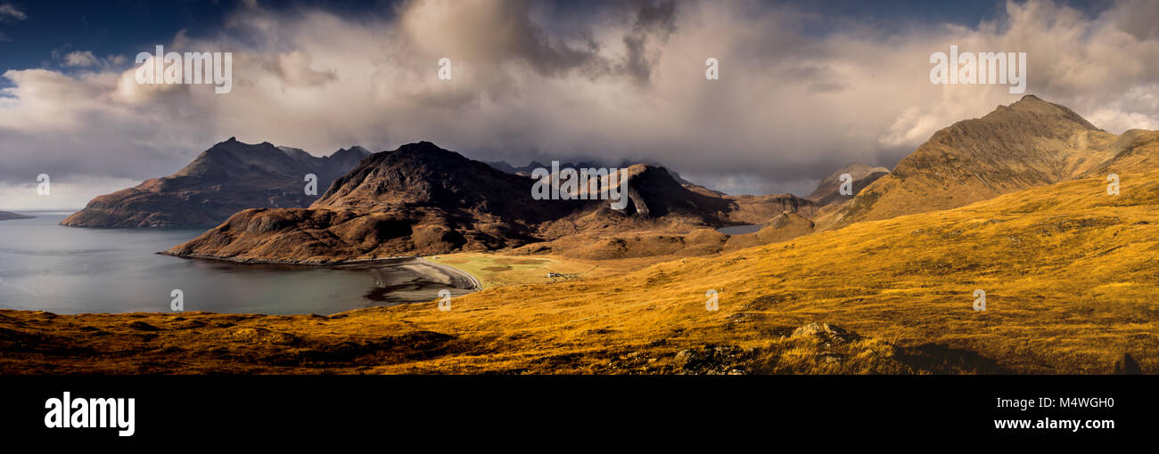 Blaven and the Black Cuillins - Stock Image