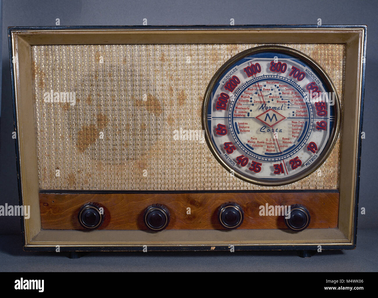 Old radio receiver. - Stock Image