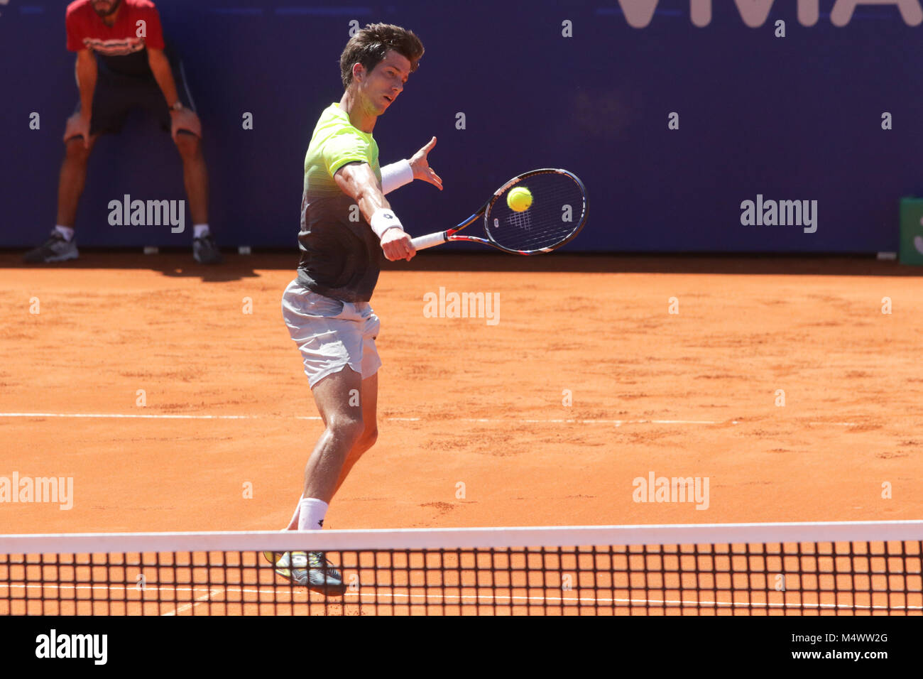 Buenos Aires, Argentina. 18th Feb, 2018.  Aljaz Bedene during the final match of Buenos Aires ATP 250 this sunday - Stock Image
