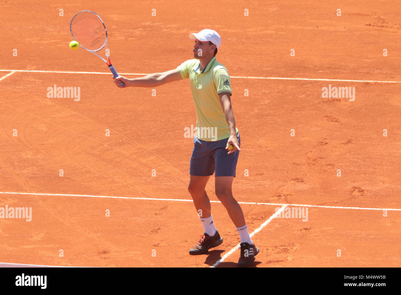 Buenos Aires, Argentina. 18th Feb, 2018. Dominic Thiem during the final match of Buenos Aires ATP 250 this sunday - Stock Image