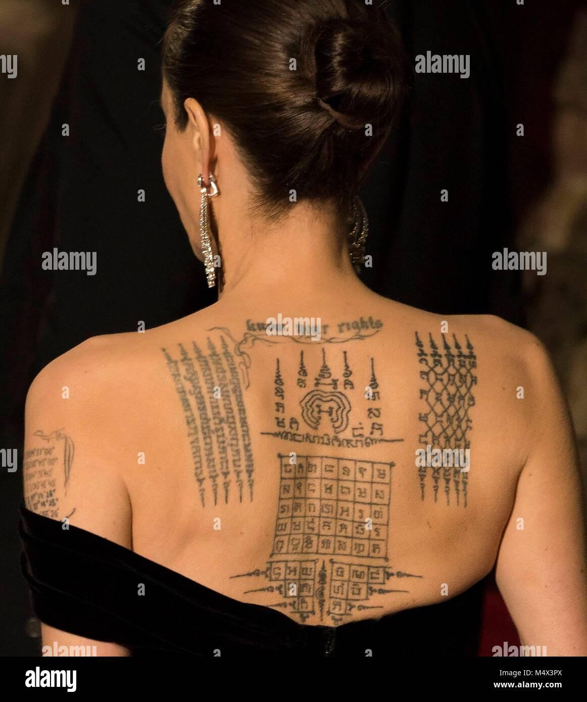 Angelina Jolie Tattoo Stock Photos & Angelina Jolie Tattoo ...
