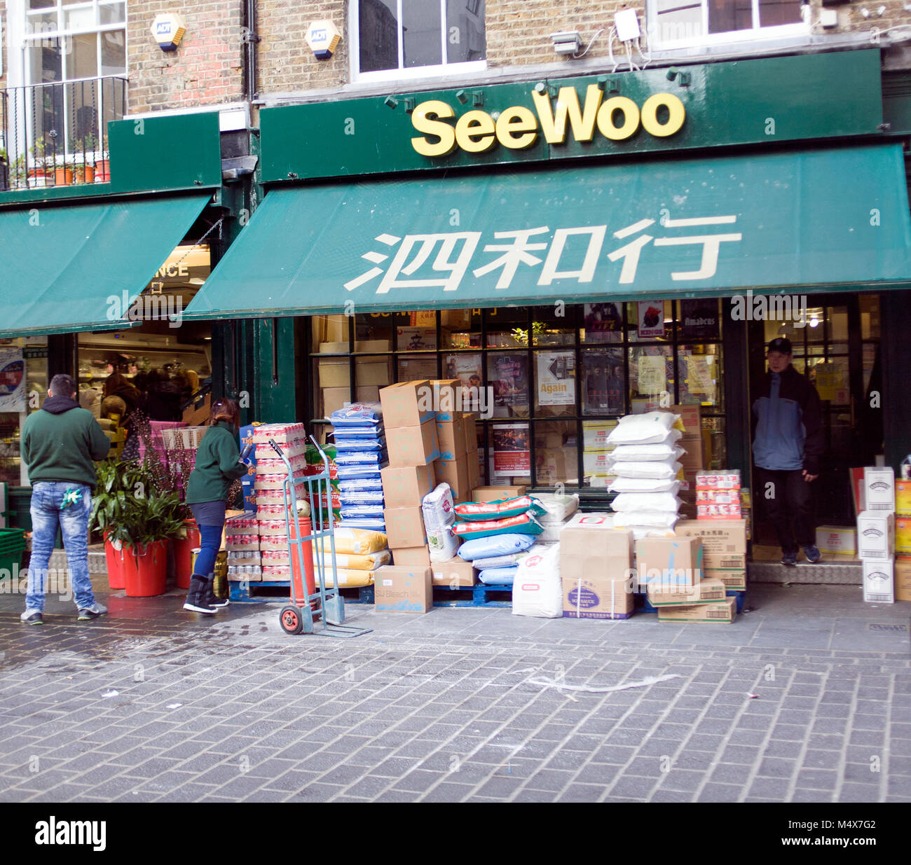 Colour Photograph of SeeWoo Chinese food store, Soho, London, England, UK. Credit: London Snapper - Stock Image