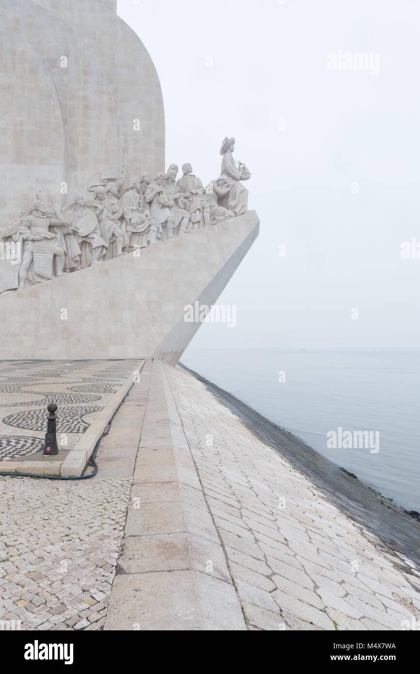 LISBON, PORTUGAL - DECEMBER 8, 2017 - Padrão dos Descobrimentos (Monument to the Discoveries) is a monument - Stock Image