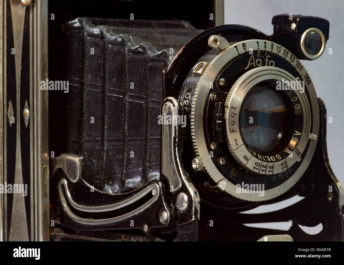 Vintage Agfa Billy O folding bellows camera - Stock Image