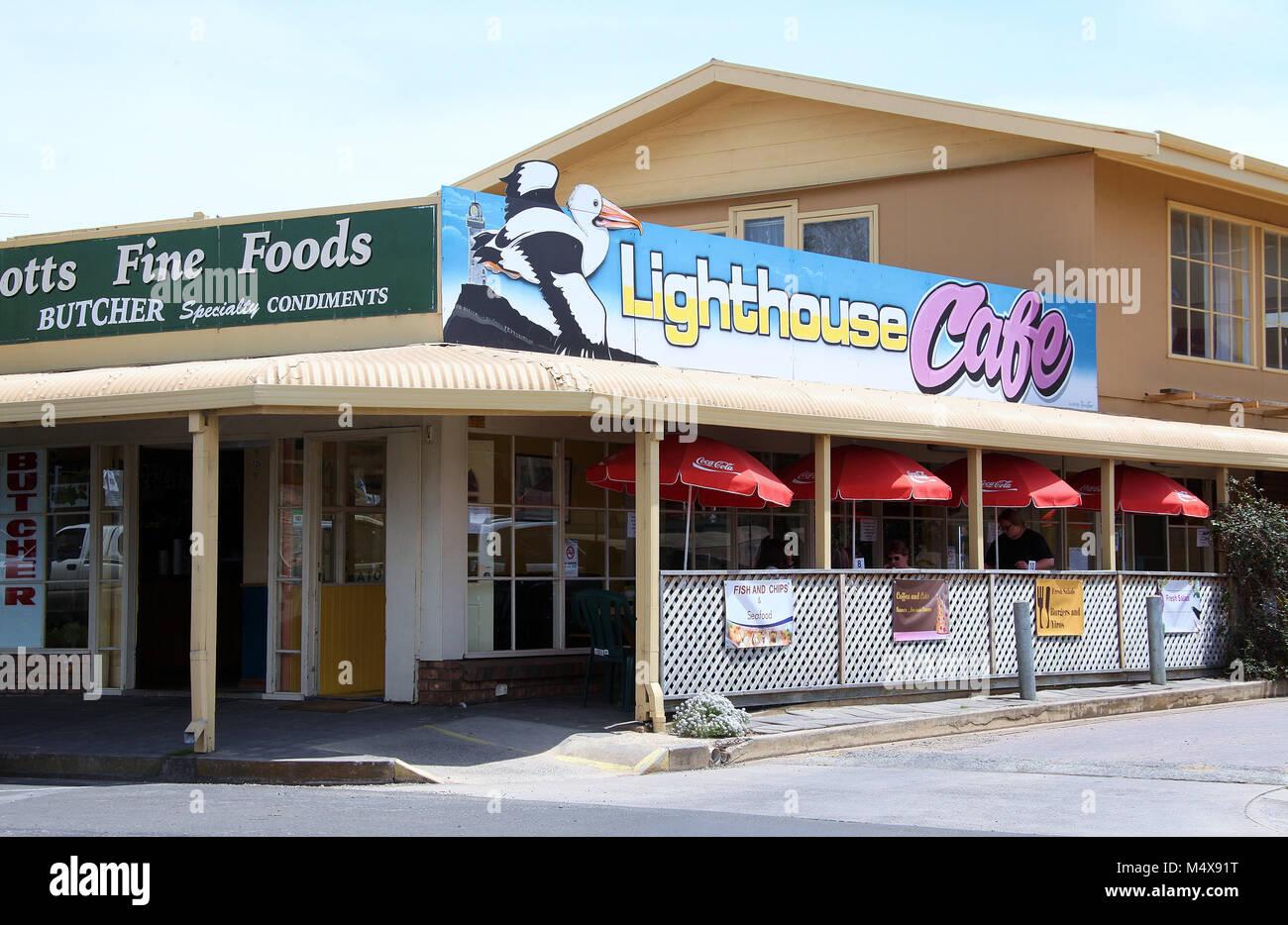 Lighthouse Cafe at Kingscote on Kangaroo island Stock Photo
