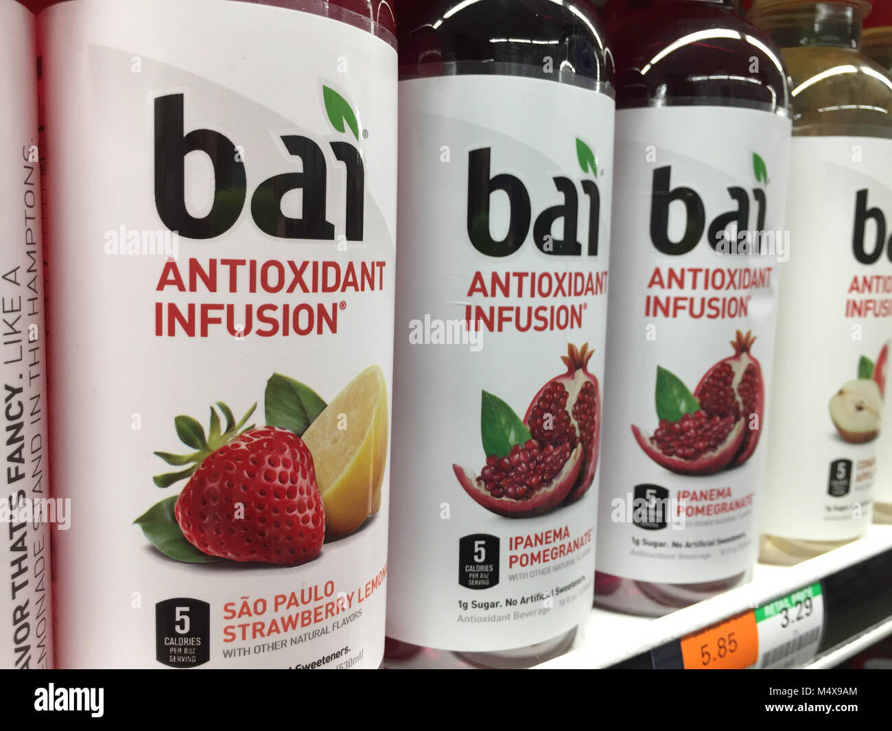 Bai Antioxidant Infusion Drink at D'Agostino Grocery Store in New York City, United States - Stock Image