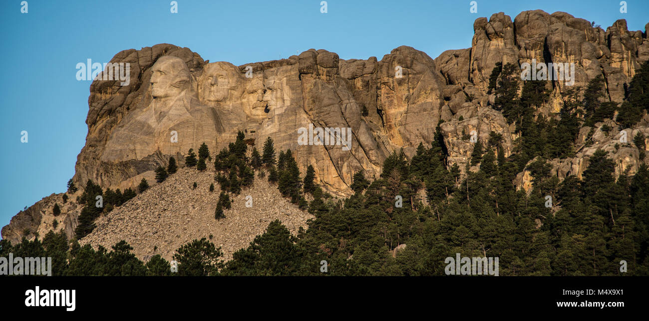 Mount Rushmore near Rapid City in South Dakota Stock Photo