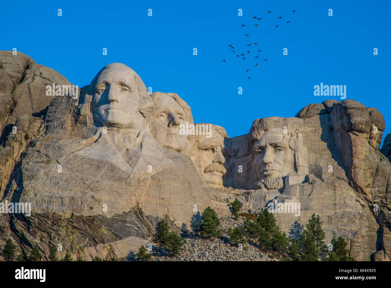 Mount Rushmore near Rapid City in South Dakota - Stock Image