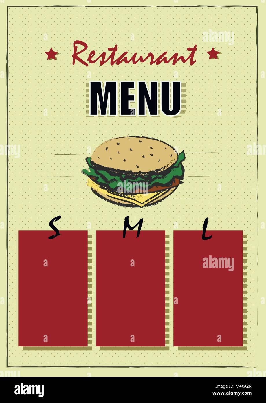 Restaurant Brochure Vector Menu Design Vector Cafe Template With