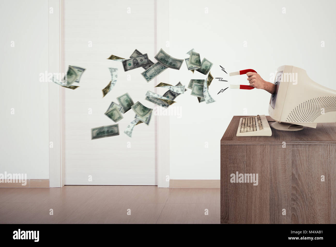 Theft on the internet - Stock Image