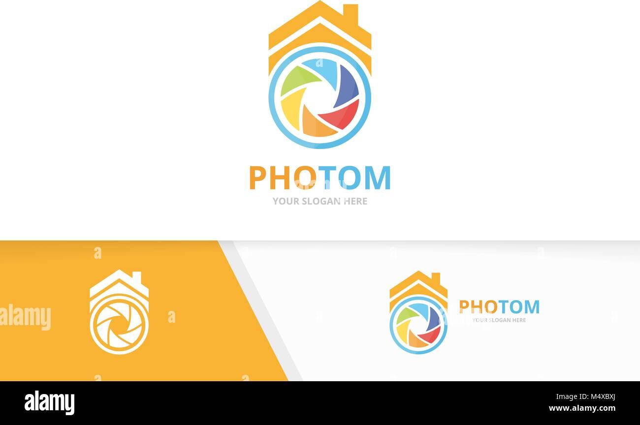 Real Estate Photography Logo Template Stock Photos & Real