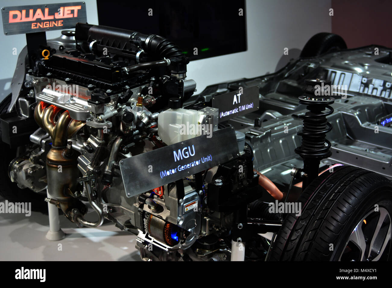 Engine at Auto Expo - Stock Image