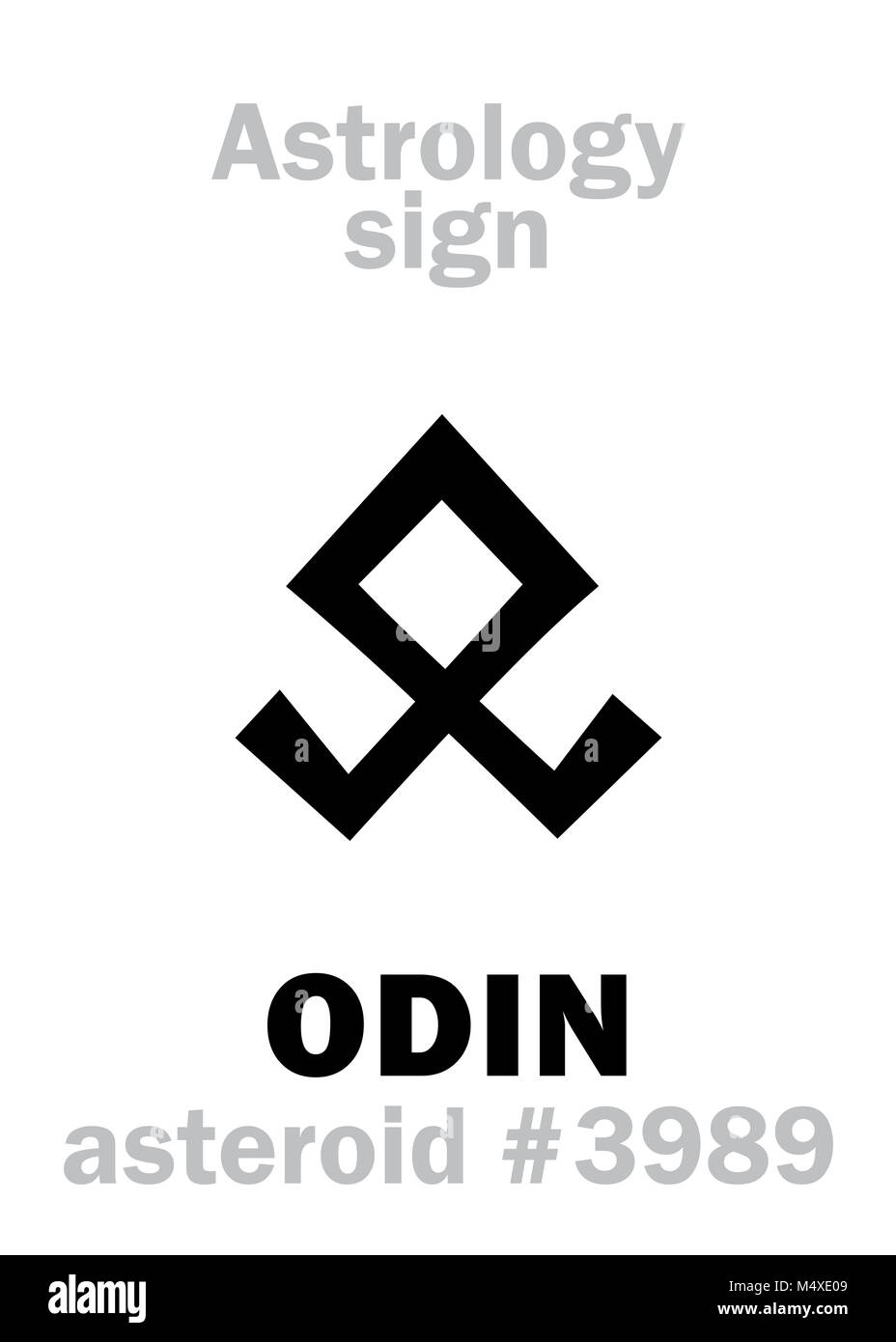 Astrology: asteroid ODIN - Stock Image