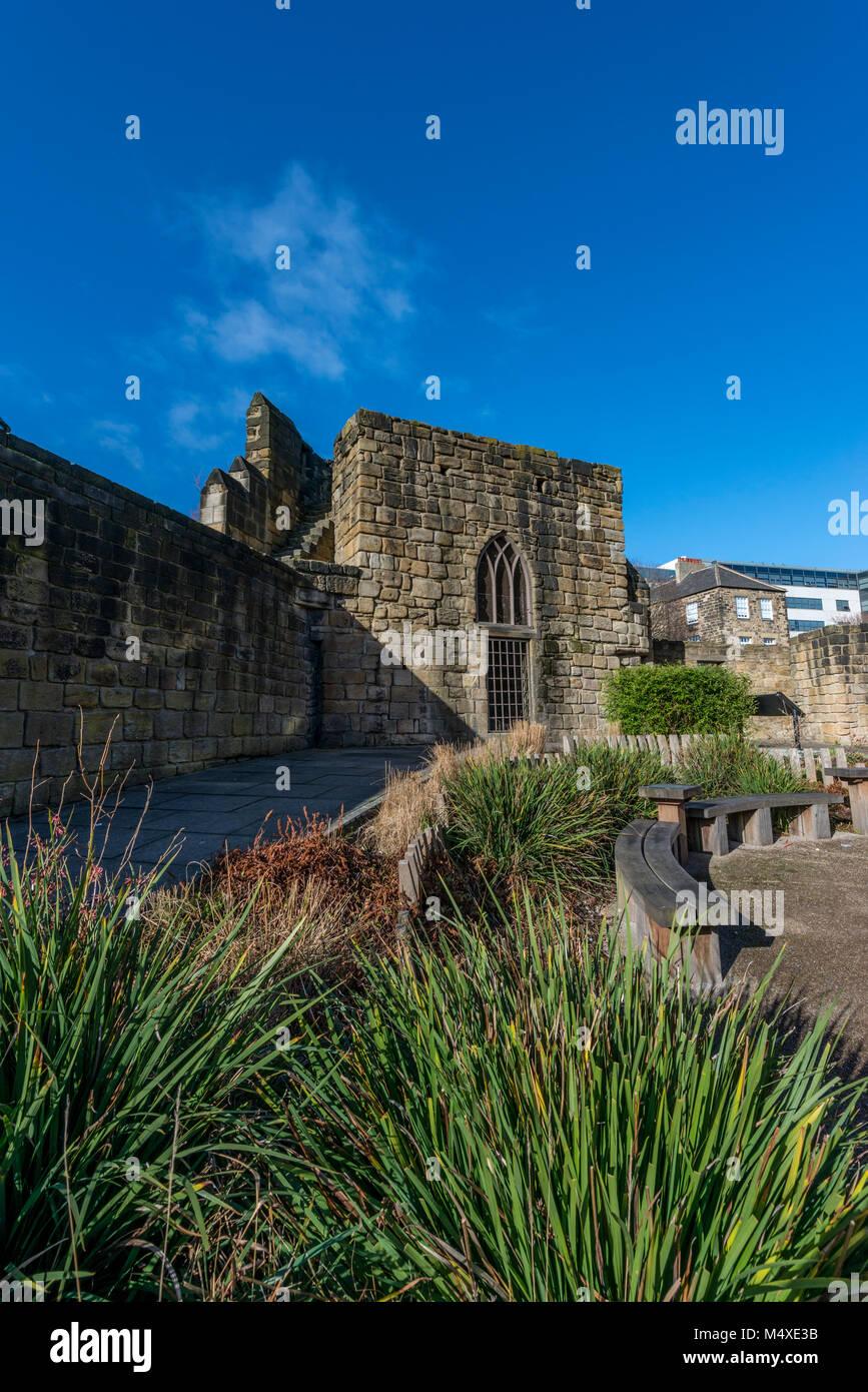 City wall, Newcastle upon Tyne, UK - Stock Image