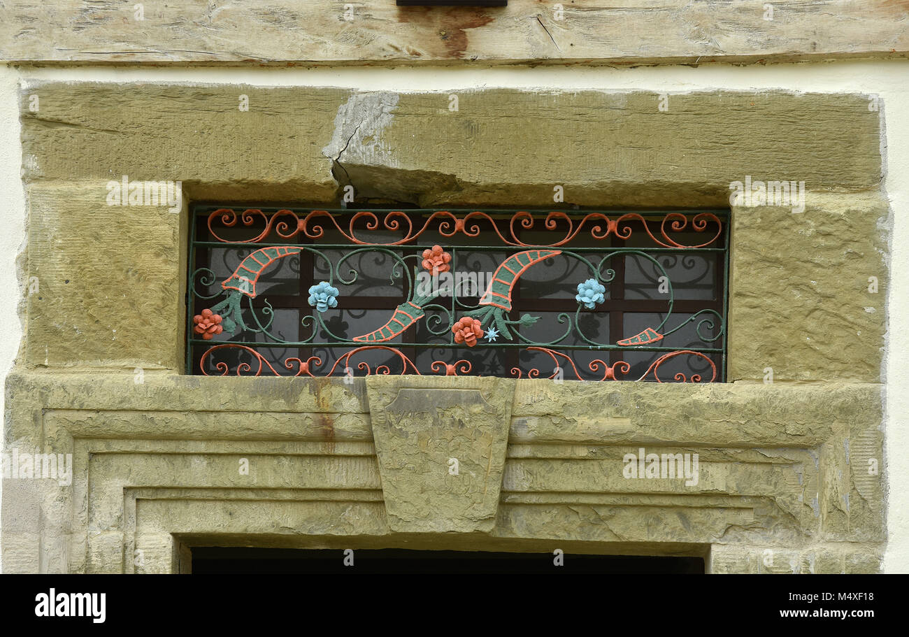 cornice; ornament; - Stock Image