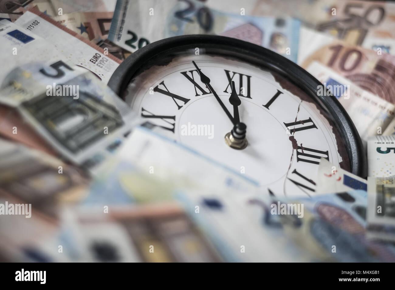 Five minutes before twelve o'clock - Stock Image