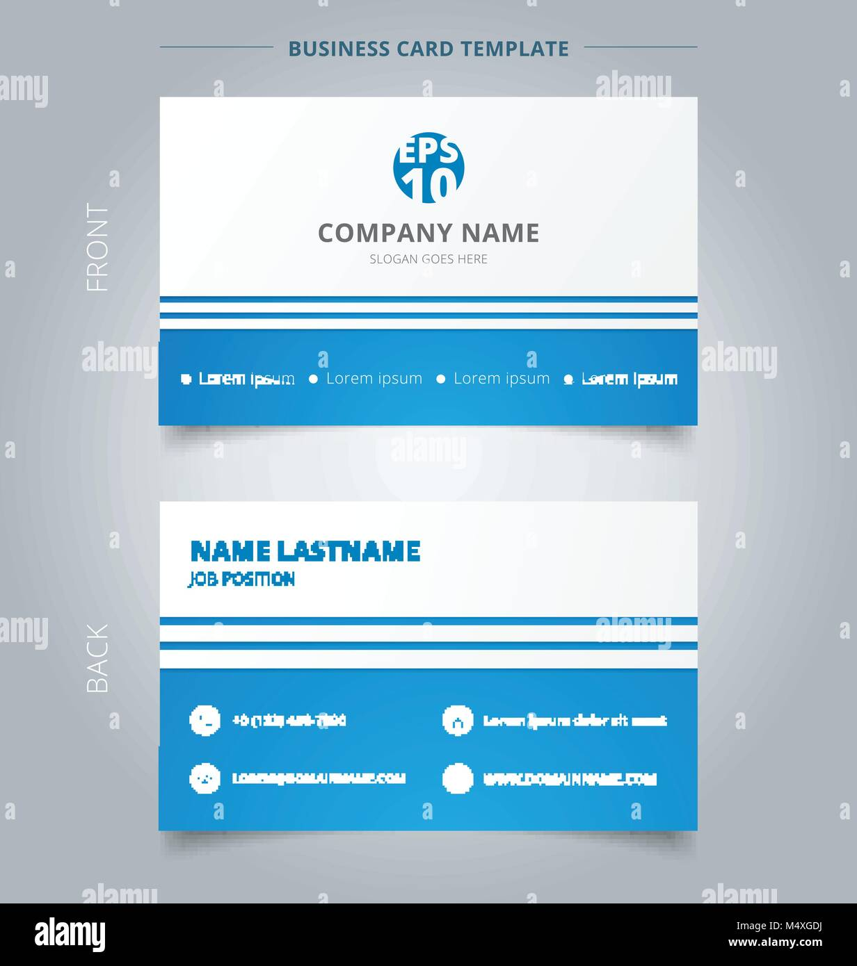 Business Line Card Template from c8.alamy.com