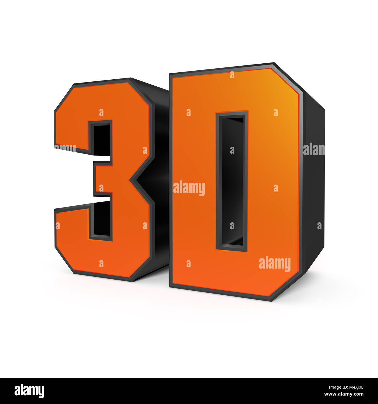 big 3D sign isolated on white - Stock Image