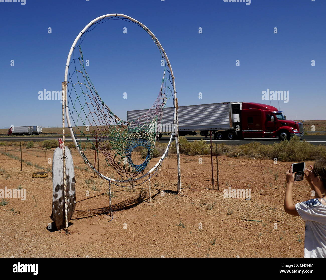 Dreamcatcher,Meteor City Trading Post Ruins,Arizona,Route 66 - Stock Image
