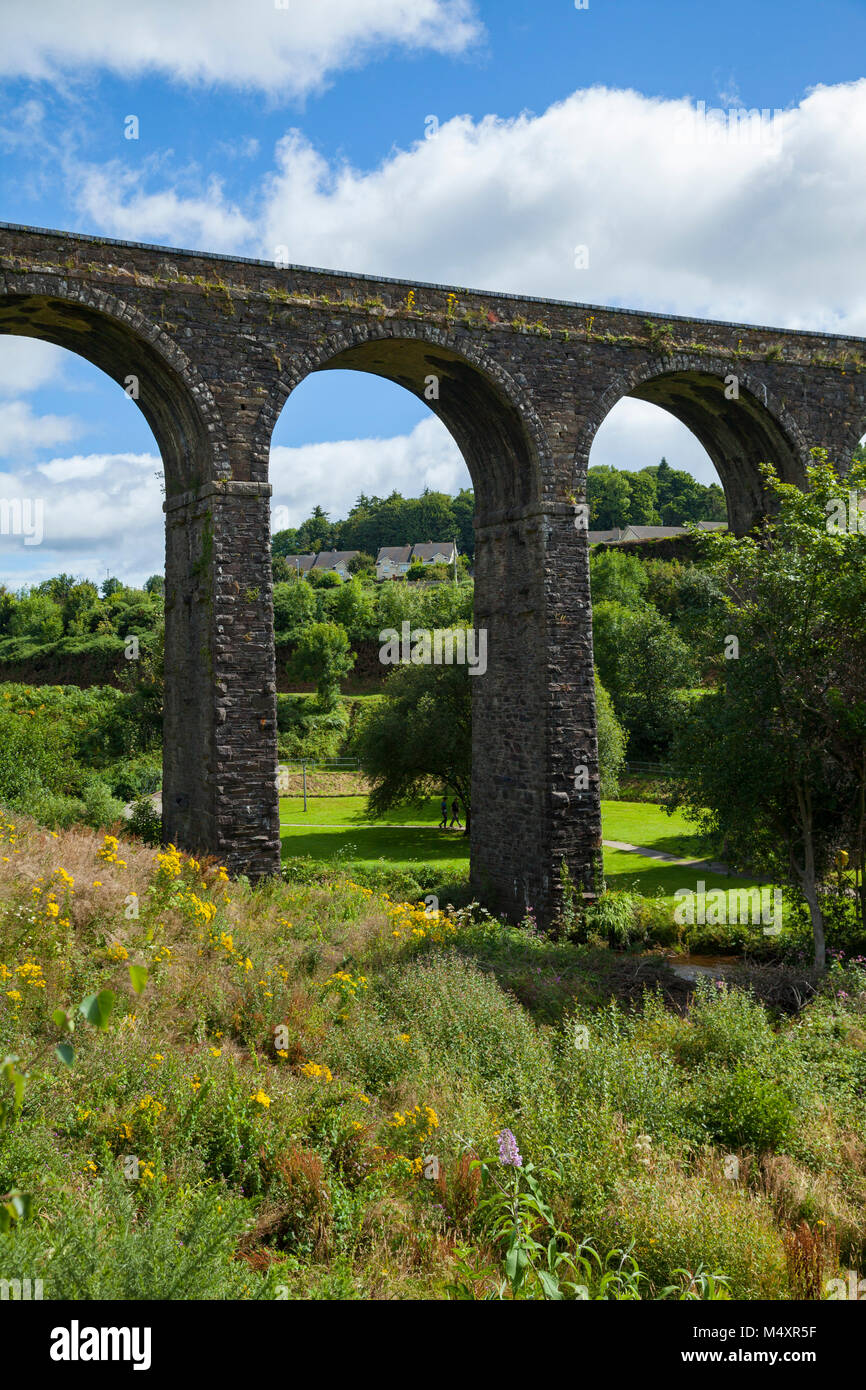 Kilmacthomas Viaduct on the Waterford Greenway, Kilmacthomas, County Waterford, Ireland. - Stock Image