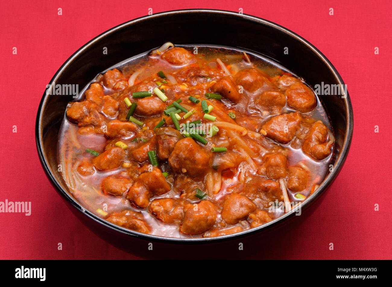Dandan noodles with chicken - Stock Image
