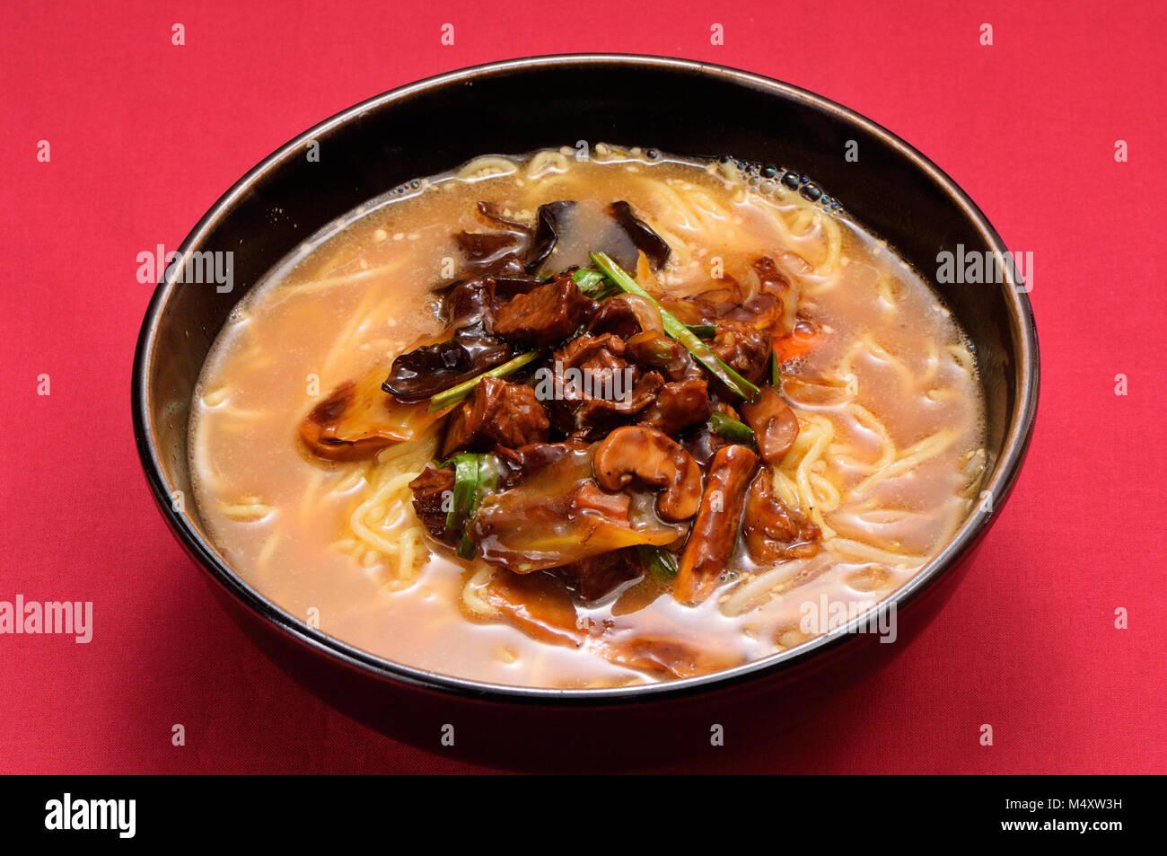 Dandan noodles with Jew's ear - Stock Image