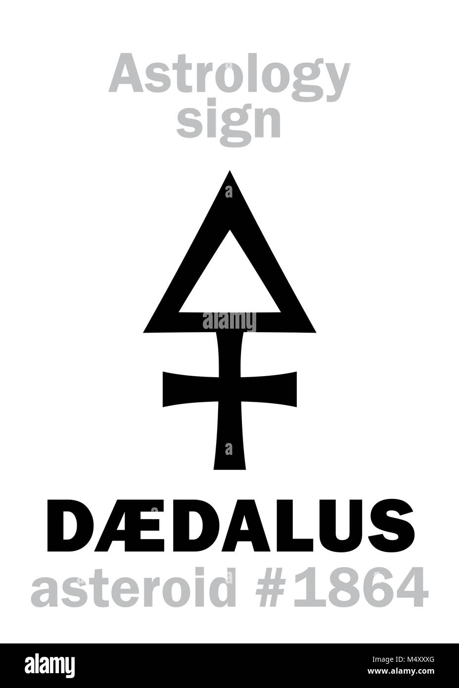 Astrology: asteroid DÆDALUS - Stock Image