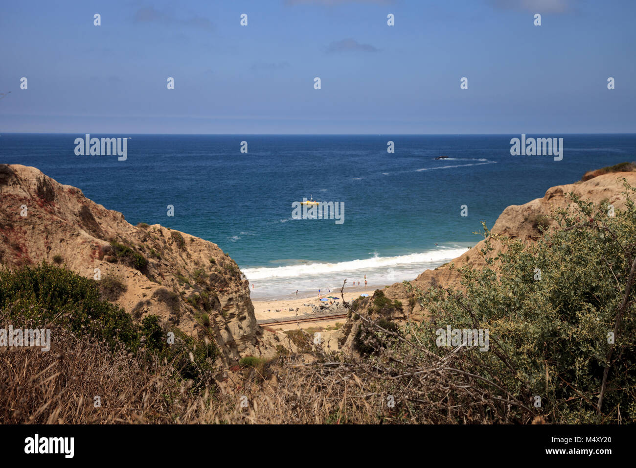 Summer at the San Clemente State Beach Stock Photo