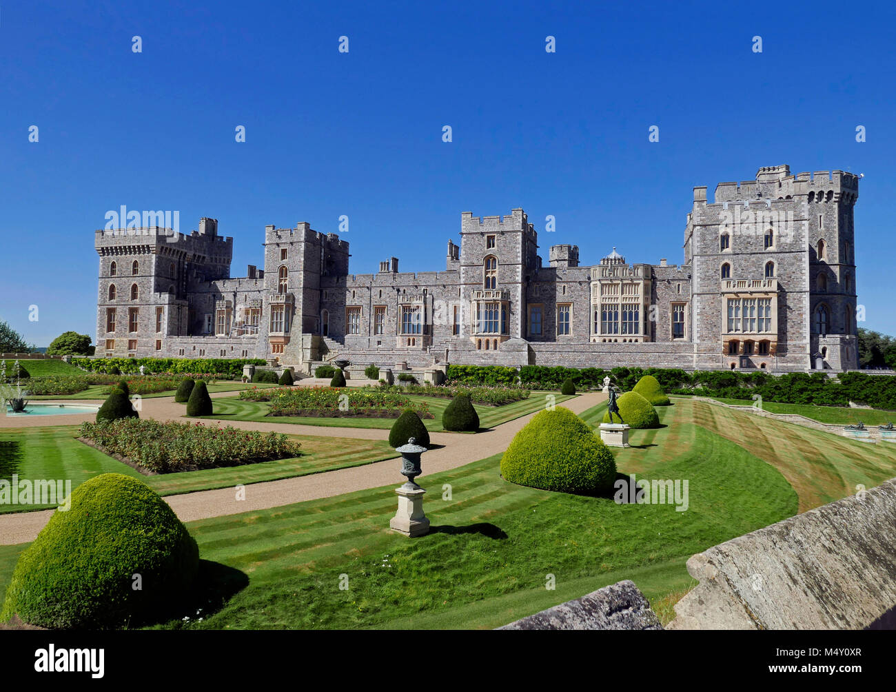 Windsor Castle - Summer view of East Terrace & Royal Apartments - Stock Image