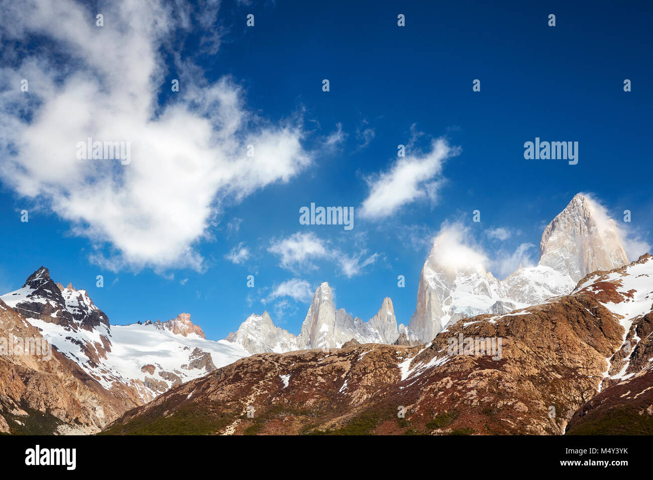 Fitz Roy Mountain Range, Los Glaciares National Park, Argentina. - Stock Image