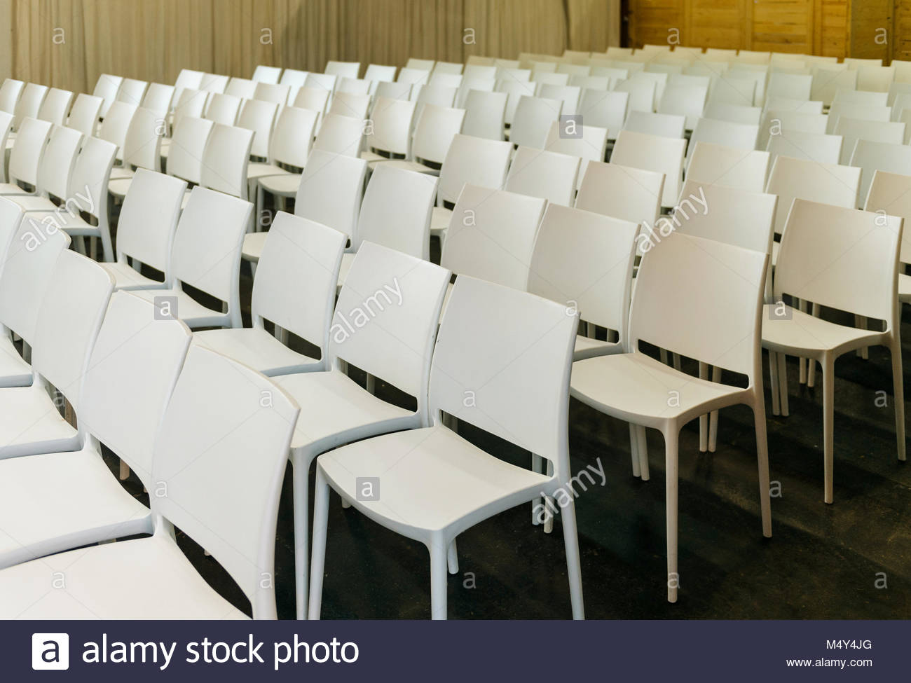Presentation chairs in hall room at exibition - Stock Image