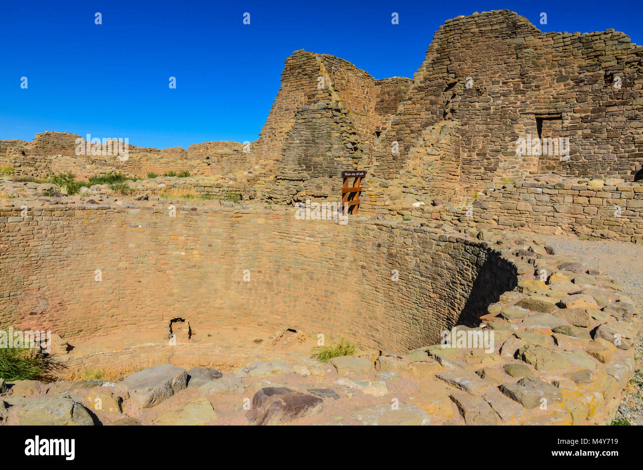 Ancient ruins of Pueblo Indians Great House. - Stock Image
