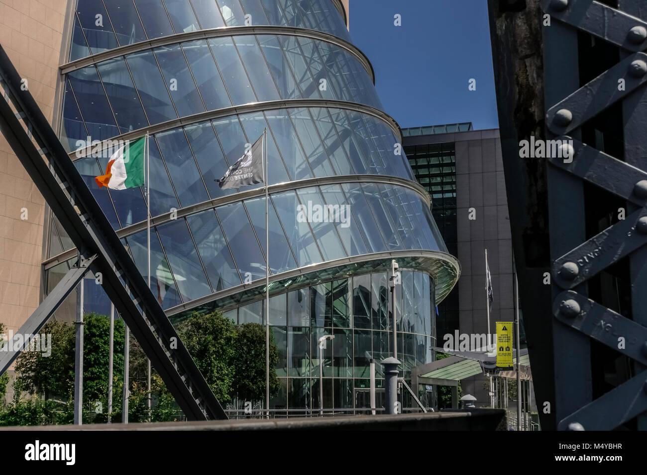 Convention Centre Dublin (CCD) designed by the Irish architect Kevin Roche. Docklands. Dublin, Republic of Ireland, - Stock Image