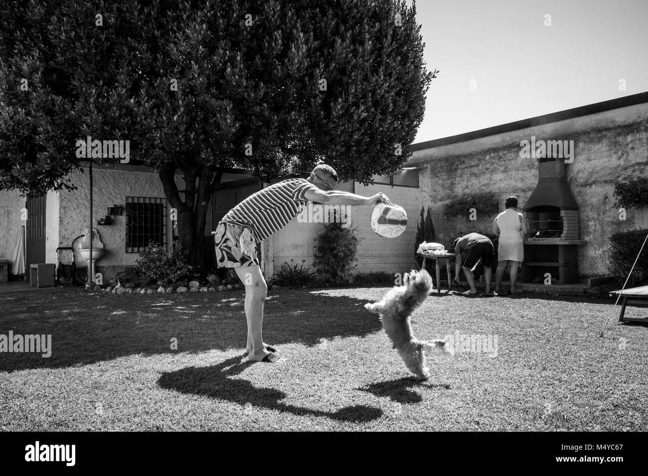 Italy, Casorezzo, Family 'Ferragosto celebration' - Stock Image