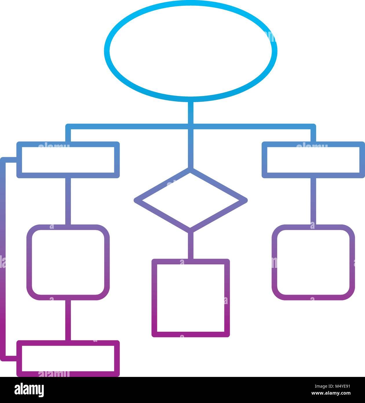 diagram flow chart connection empty