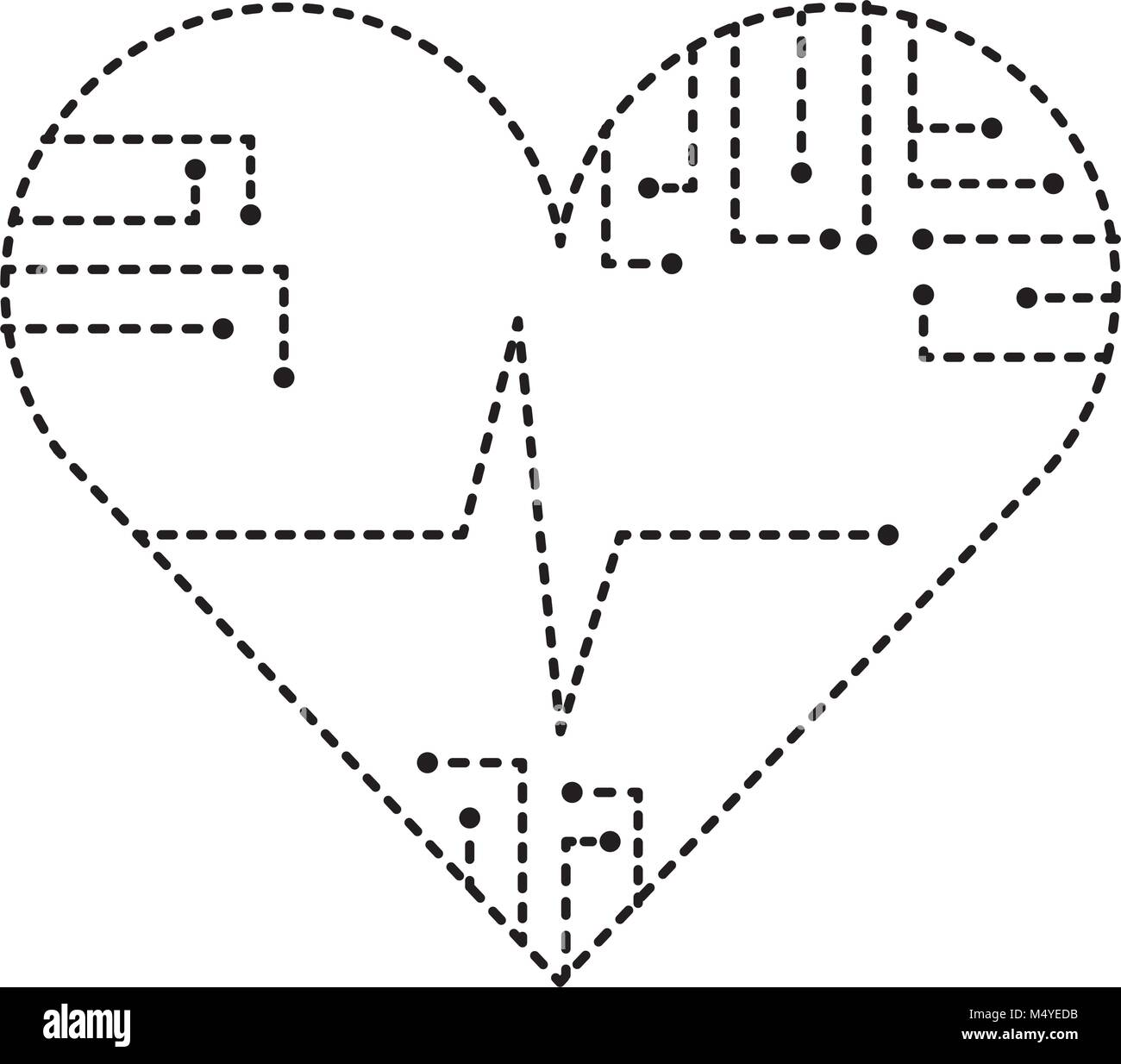 Heart Rate Line Black And White Stock Photos Images Alamy Monitor Schematic Circuit Technology Medical Image