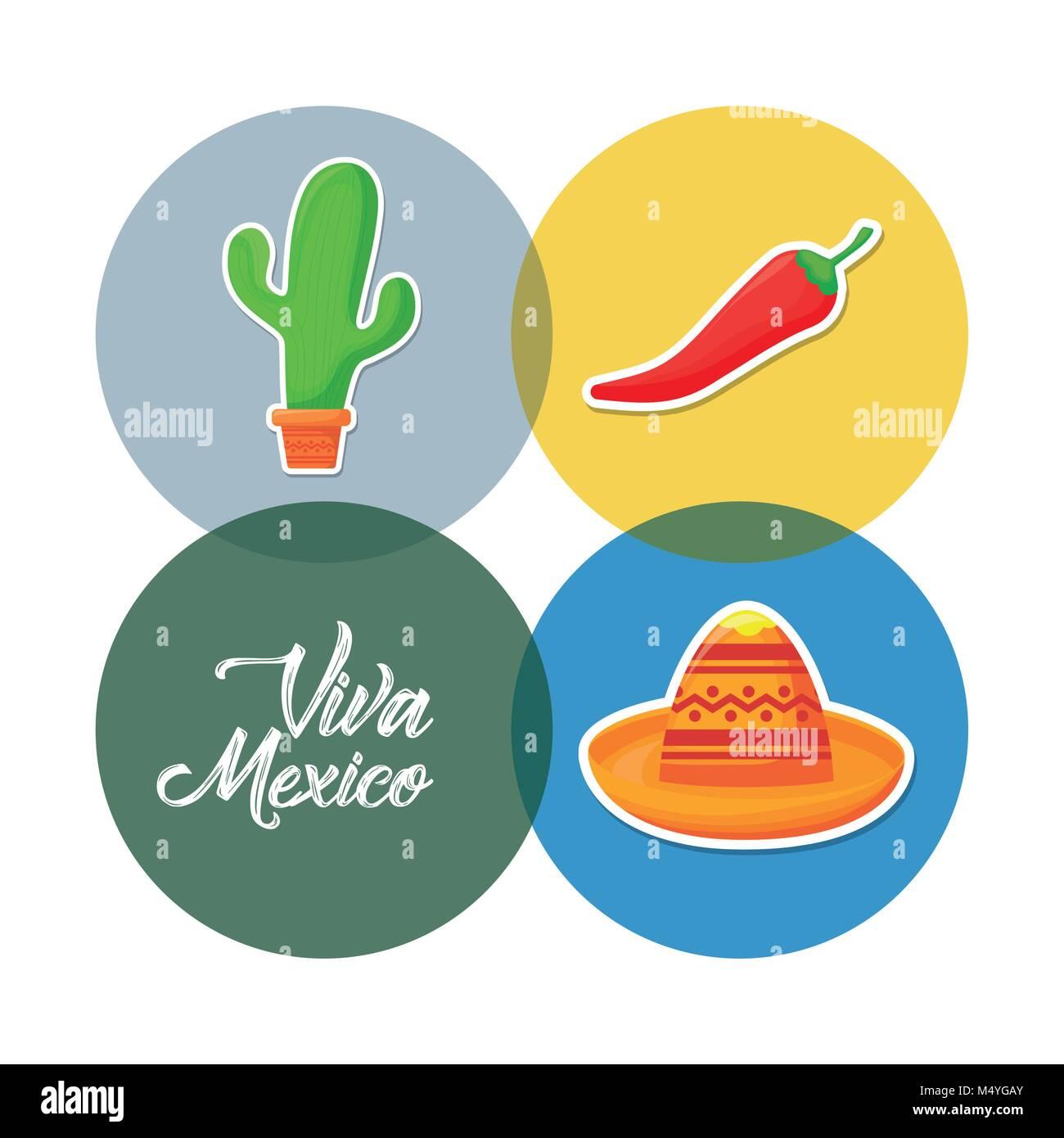 Viva mexico design - Stock Image