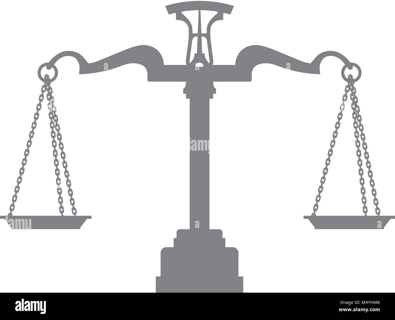 Silhouette of Scales of Justice, balance - symbol of legal system and judgement - Stock Vector