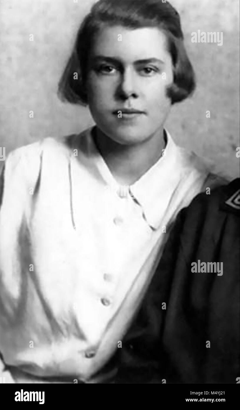MELITA NORWOOD (1912-2005) UK civil servant and spy for KGB. Photo about 1935 Stock Photo