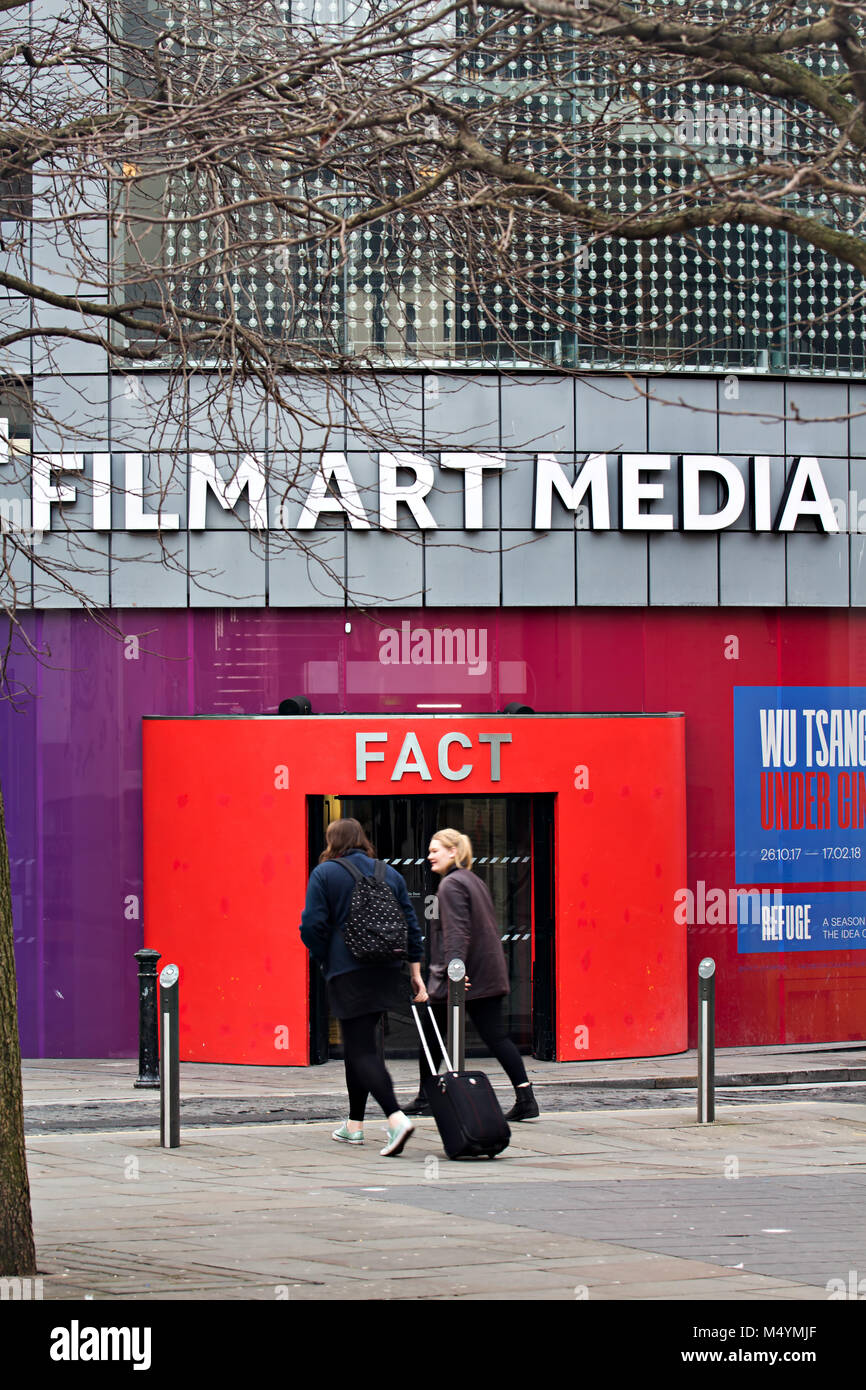 FACT (The Foundation for Art & Creative Technology) is a media arts centre in Wood Street  Liverpool, UK. hosting - Stock Image