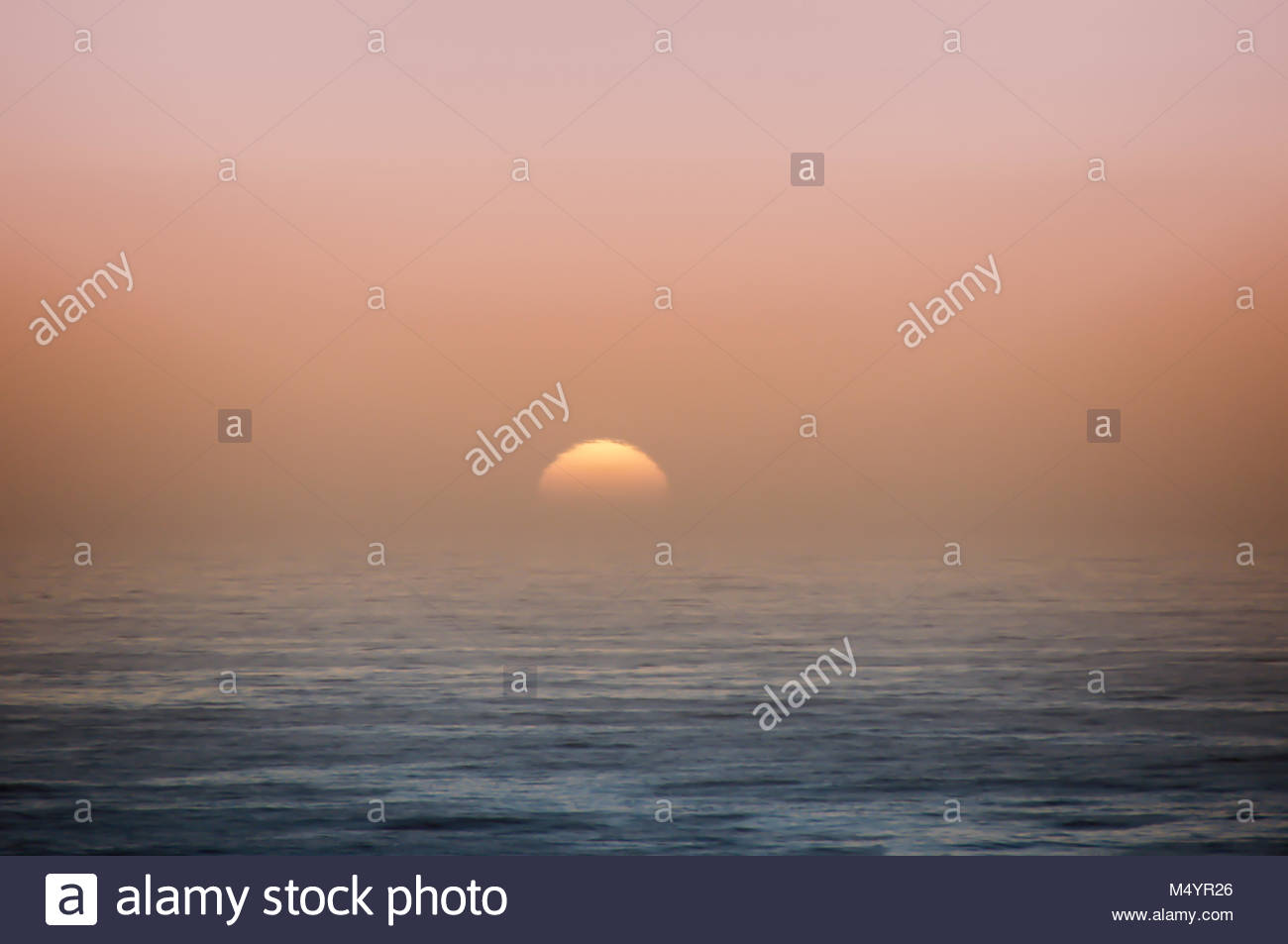 Pacific Ocean Sunset. - Stock Image