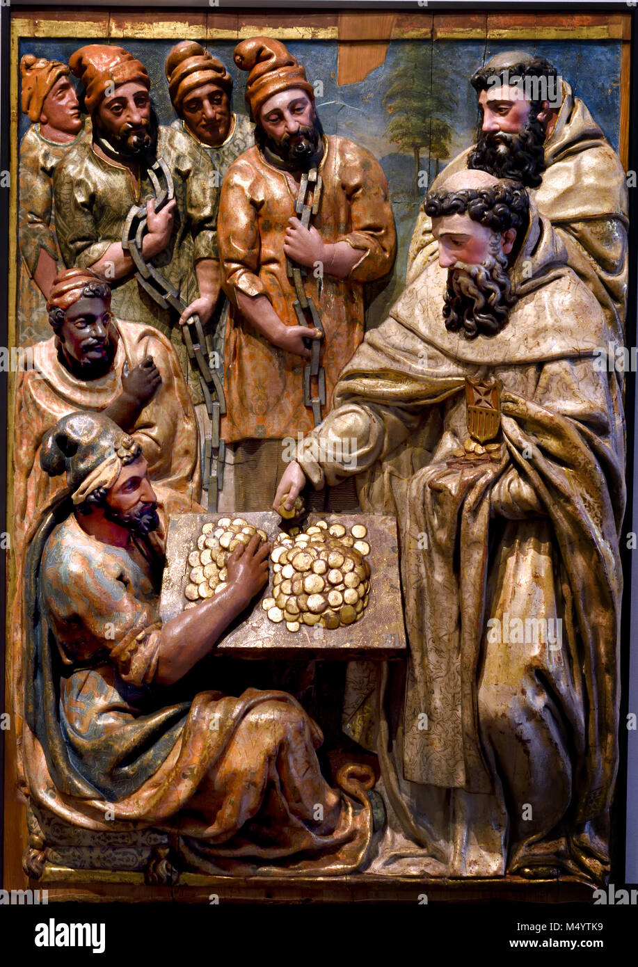 Saint Peter redeeming captives 1599 Pedro dela Cuardra 1589-1629  master 16th, century,  Spain, Spanish, - Stock Image