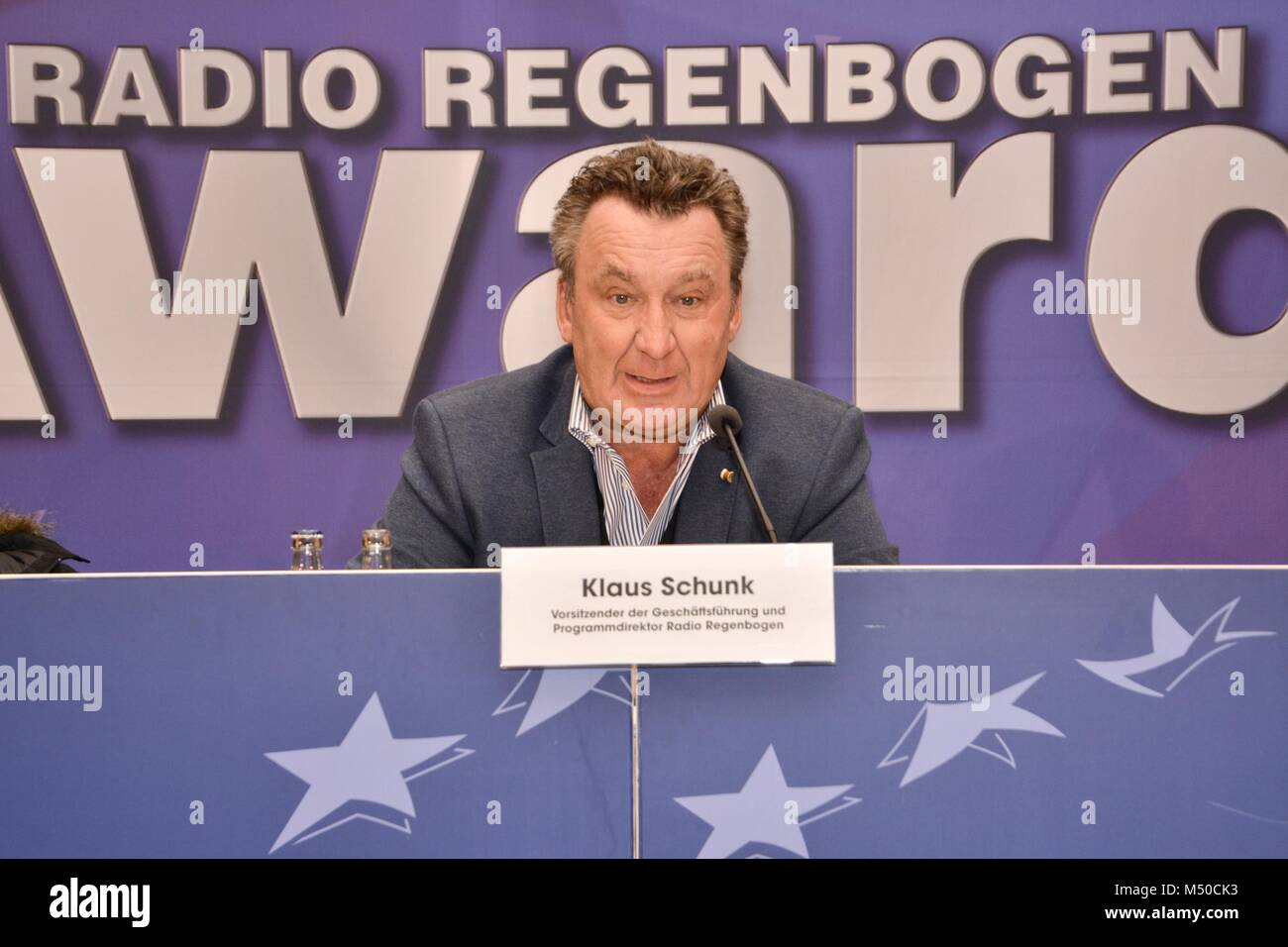 "Rust, Germany, 19th February, 2018, press conference ""Radio Regenbogen AWARD 2018"" Credit: mediensegel/Alamy Live Stock Photo"