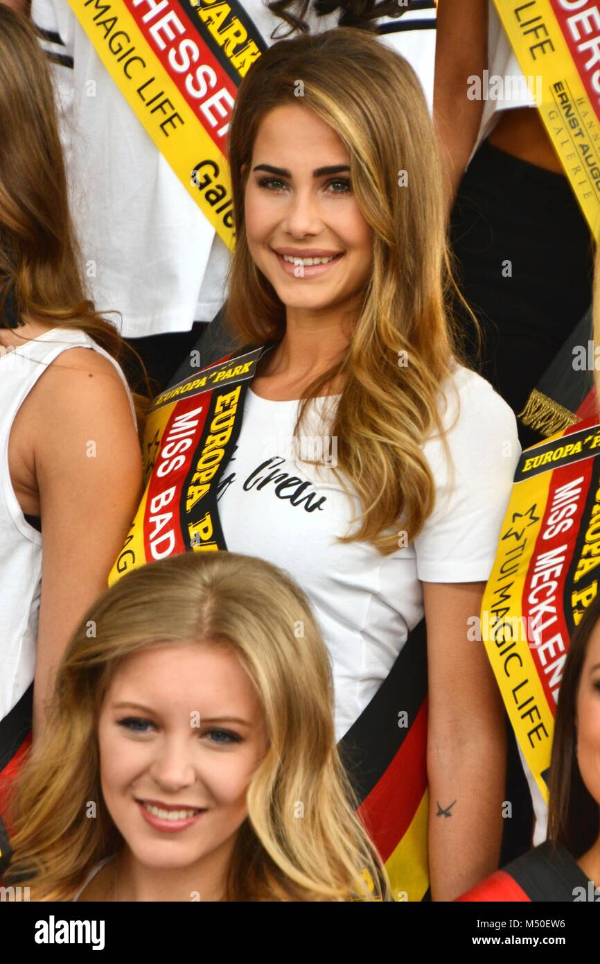 """Rust, Germany, 19th February, 2018, press conference """"Miss Germany - Das Finale 2018"""" Credit: mediensegel/Alamy Stock Photo"""