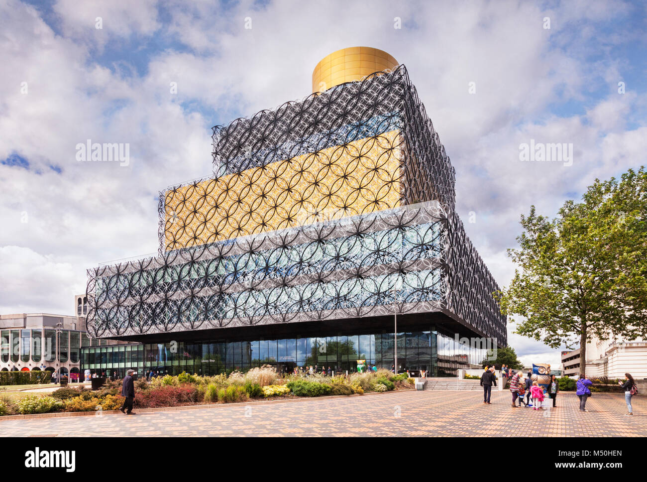 Birmingham Public Library, by Mecanoo, Birmingham, West Midlands, England - Stock Image