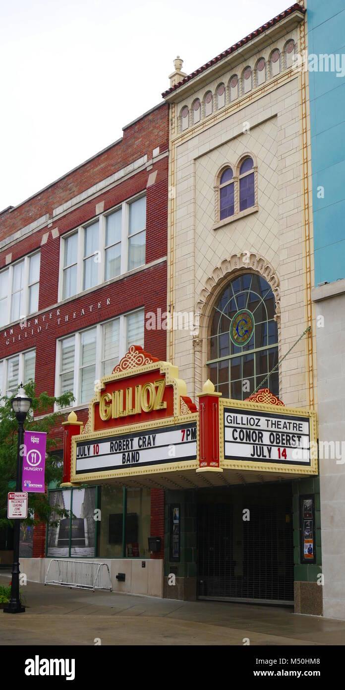 Historic Gillioz Theatre,Springfield,Missouri,Route 66 - Stock Image