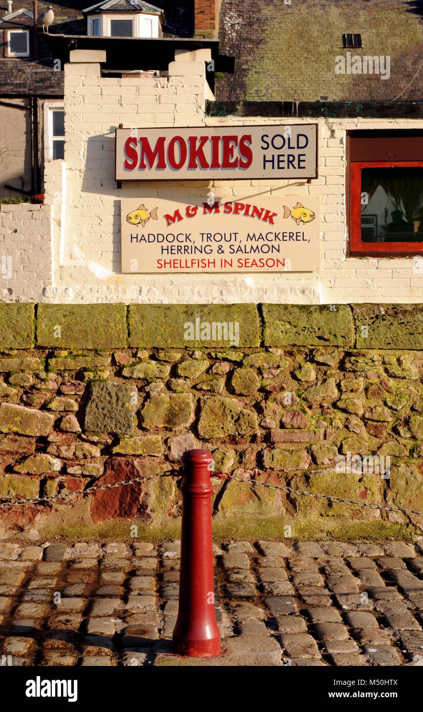 Smokies, Arbroath, Angus, Scotland - Stock Image